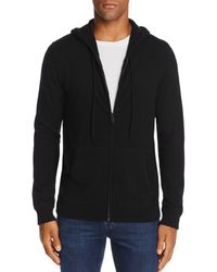 Bloomingdale's Cashmere Full Zip Hoodie - Black
