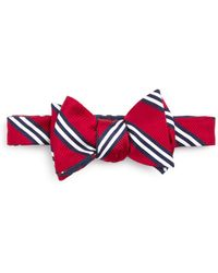 Brooks Brothers - Stripe Flower Bow Tie - Lyst