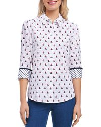 Foxcroft - Sailboat Wrinkle-free Shirt - Lyst