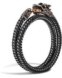 John Hardy - Men's Naga Double Wrap Dragon Cord Bracelet - Lyst