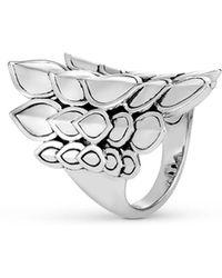 John Hardy Naga Saddle Ring Sterling Silver - Metallic