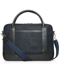 Bloomingdale's Waxed Canvas Briefcase - Blue