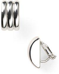 Ralph Lauren - Lauren Ridged Clip-on Earrings - Lyst