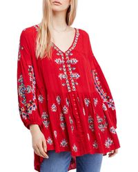 Free People - Arianna Embroidered Tunic - Lyst