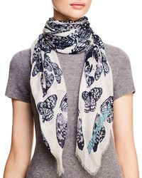 Zadig & Voltaire - Kerry Butterfly Skull Print Scarf - Lyst