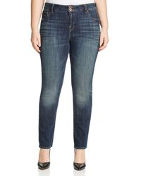 Lucky Brand - Emma Navy Wash Straight-leg Jeans - Lyst