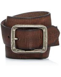 John Varvatos - Men's Crackled Leather Belt - Lyst