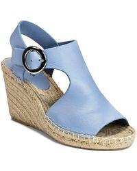 Via Spiga Women's Nolan Espadrille Wedge Heel Sandals - Blue