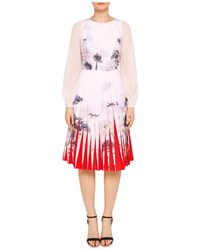 Ted Baker - Prticha Lake Of Dreams Pleated Dress - Lyst