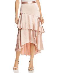Lost + Wander Lost + Wander Mademoiselle Ruffled Satin Skirt - Pink