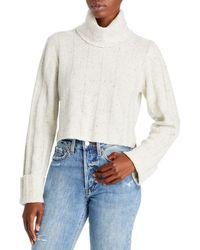 LoveShackFancy Kerry Cashmere Turtleneck Sweater - Gray