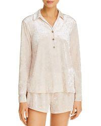 Josie Velvet Dream Short Pyjama Set - White