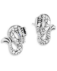 John Hardy - Sterling Silver Legends Naga Stud Earrings - Lyst
