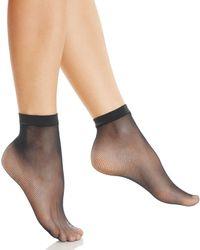 Fogal Fishnet Ankle Socks - Black