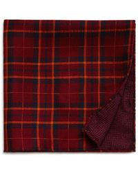 Bloomingdale's - Medallion/prince Of Wales Plaid Reversible Pocket Square - Lyst