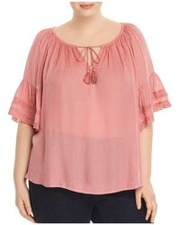 Lucky Brand - Bell-sleeve Peasant Top - Lyst