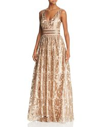 60d7a3840125 Betsy & Adam - Embellished Brocade Ball Gown - Lyst