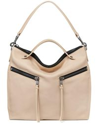 Botkier New Trigger Medium Leather Convertible Hobo - Natural