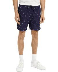 Scotch & Soda Printed Swim Shorts - Blue