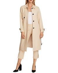 Vince Camuto Double Weave Long Coat - Natural