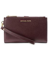 MICHAEL Michael Kors Adele Double Zip Leather Iphone 7 Plus Wristlet - Multicolour