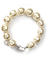 Majorica Baroque Simulated Pearl Bracelet - Metallic
