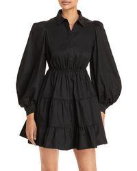 Bardot Cotton Poplin Mini Dress - Black