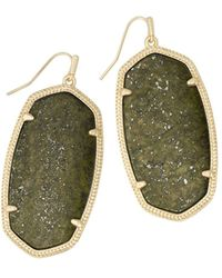 Kendra Scott Danielle Earrings - Green