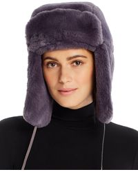 Aqua Faux Fur Trapper Hat - Multicolour