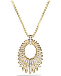 David Yurman - Tempo Necklace With Diamonds In 18k Gold - Lyst