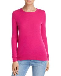 C By Bloomingdale's Crewneck Cashmere Jumper - Pink