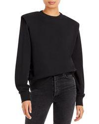 Pistola Kirsten Padded Shoulder Sweatshirt - Black