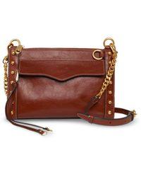 Rebecca Minkoff Mab Studded Leather Crossbody - Brown