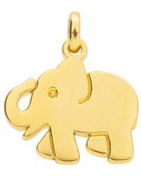 Tous Idol Elephant Pendant - Metallic