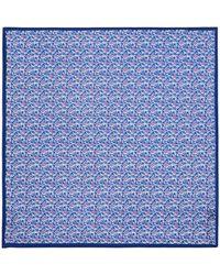 Bloomingdale's Mini Floral Pocket Square - Blue