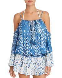 Surf Gypsy - Cold Shoulder Dress Swim Cover-up - Lyst