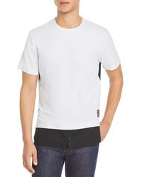 Karl Lagerfeld Colour Block Tee - Black