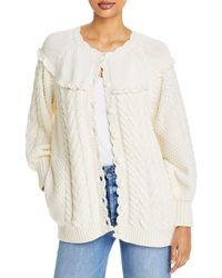 LoveShackFancy Lake Boyfriend Cardigan Sweater - White