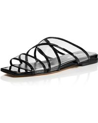 Charles David - Women's Drea Strappy Patent Leather Illusion Slide Sandals - Lyst