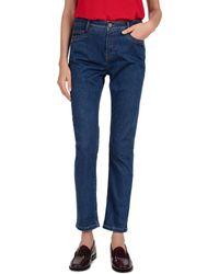 Gerard Darel Melodie Skinny Ankle Jeans In Blue