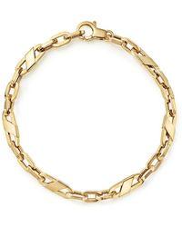 Bloomingdale's Men's Oval Link Bracelet In 14k Yellow Gold - Metallic