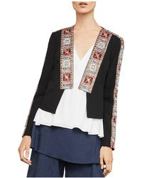BCBGMAXAZRIA - Embroidered Open-front Jacket - Lyst