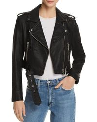 Pistola - Tracy Cropped Faux Leather Moto Jacket - Lyst