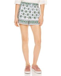 Sandro - Ivy Mosaic-print Mini Shorts - Lyst