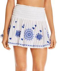 Ramy Brook Mini Skirt Swim Cover - Up - Blue