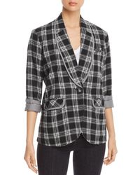 Billy T - Flannel Plaid Blazer - Lyst