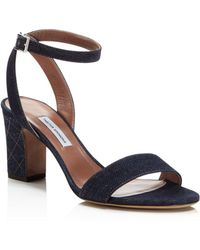 Tabitha Simmons - Women's Leticia Denim Ankle Strap High-heel Sandals - Lyst