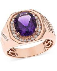Bloomingdale's Amethyst & Diamond Ring In 14k Rose Gold - Multicolour