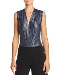 Aqua - Sleeveless Metallic Bodysuit - Lyst