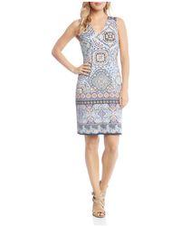 Karen Kane - Tile-print Sheath Dress - Lyst